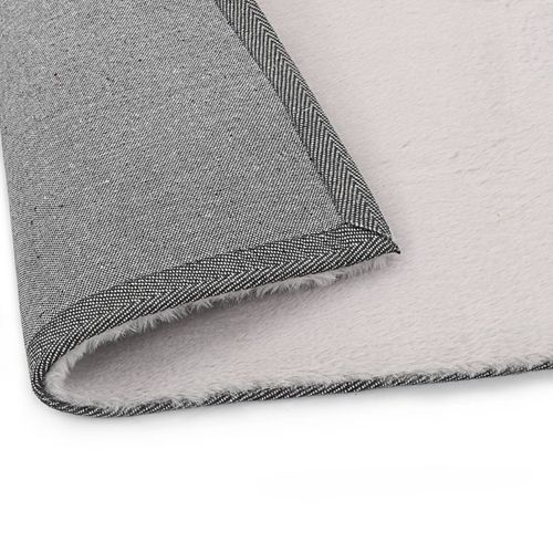 Tepih od umjetnog zečjeg krzna 160 x 230 cm sivi slika 4
