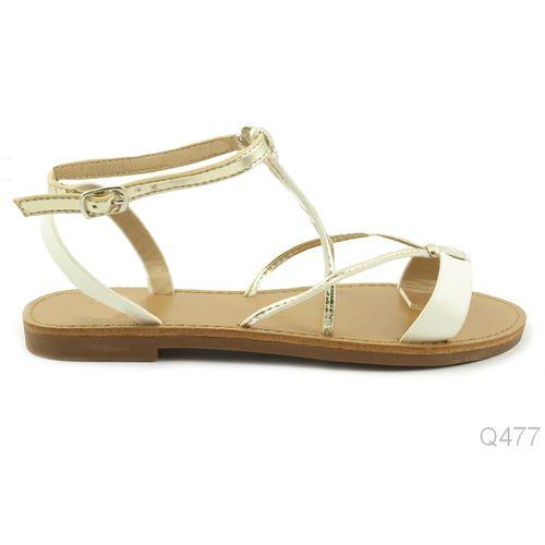 Bijelo Zlatne Sandale slika 1
