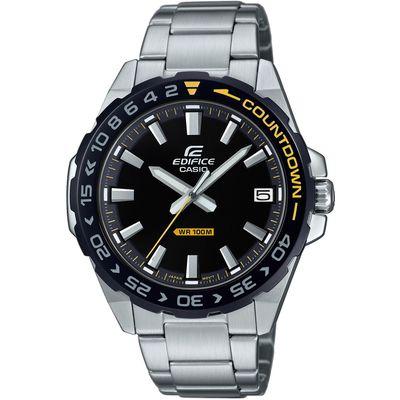 Ručni sat CASIO Edifice EFV-120DB-1AVUEF je analogni sat s prikazom datuma na zaslonu. Trajanje baterije: 3 godine. Mineralno staklo štiti sat od ogrebotina. Neo-zaslon osigurava dobru vidljivost u uvjetima slabijeg osvjetljenja. Vodootporan do 100 metara. Kućište i remen sata od nehrđajućeg čelika jamče udobnost dok nosite sat.