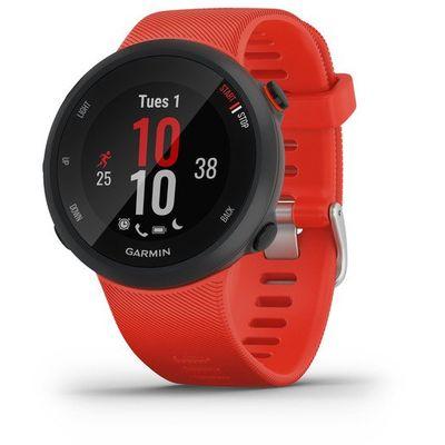 Forerunner 45L LavaRed, 2 godine garancije    - pametni sat  - trajanje baterije do 7 dana  - upravljanje glazbom  - senzor pulsa na zapešću  - ugrađeni GPS  - vježbajte uz Garmin trenera  - plaćajte putem Garmin Pay  - IQ store trgovina