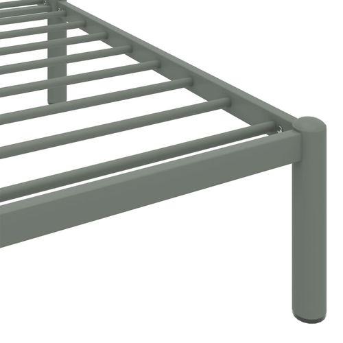 Okvir za krevet sivi metalni 100 x 200 cm slika 6