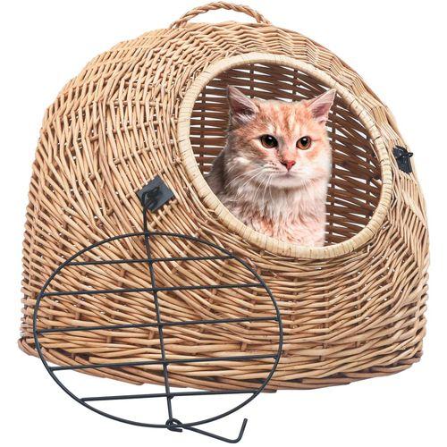 Transporter za mačke 60 x 45 x 45 cm od prirodne vrbe slika 10