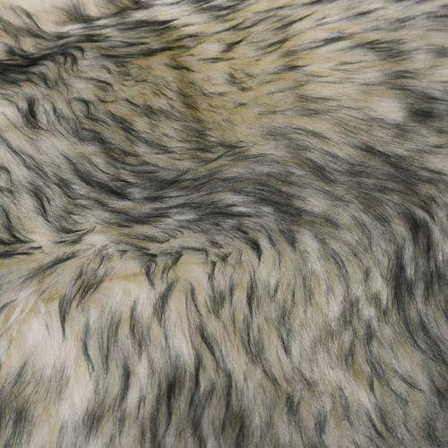 Tepih od ovčje kože 60 x 180 cm tamnosivi prošarani slika 2