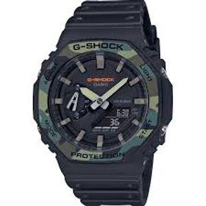 Ručni sat CASIO G-Shock GA-2100SU-1AER dio je G-Shock kolecije koja je dizajnirana da bude otporna na udarce i vibracije. Vodootporan je do 200 metara po ISO 22810, a teži 51 gram. Sastoji se od mineralnog stakla koje je otporno na ogrebotine, kućišta i remena od sintetičke smole što ih čini idealnima za izdržljivost i fleksibilnost. CASIO G-Shock GA-2100SU-1AER ima štopericu s točnosti stotinke do 24 sata, tajmer do 24 sata, 5 dnevnih alarma, svjetsko vrijeme, automatski kalendar i sadrži LED diodu koja osvjetljuje ekran.