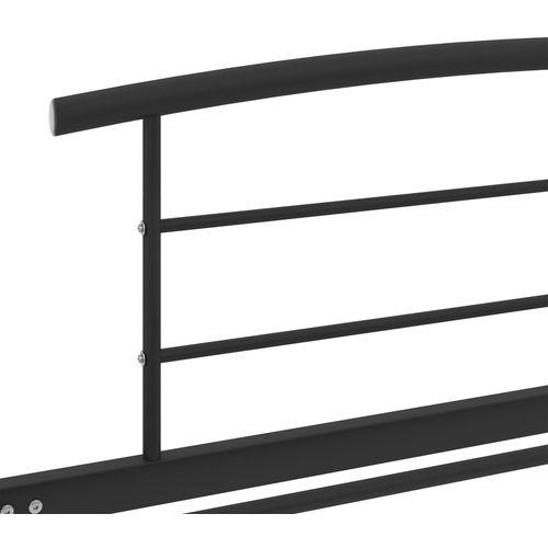 Okvir za krevet crni metalni 90 x 200 cm slika 5