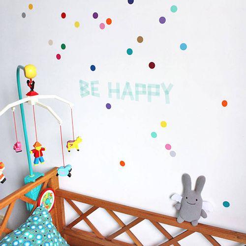 Zidne naljepnice — TOČKE — multicolor • 50% gratis slika 1