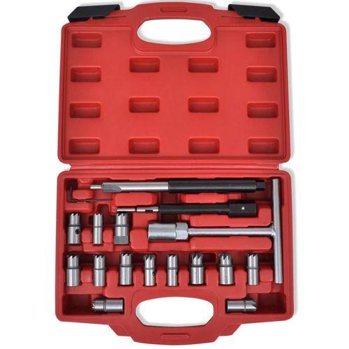 17-dijelni set alata za rezanje kućišta injektora, za diesel vozila slika 7