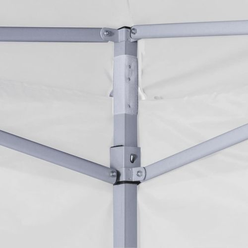 Profesionalni sklopivi šator za zabave 3 x 3 m čelični bijeli slika 2