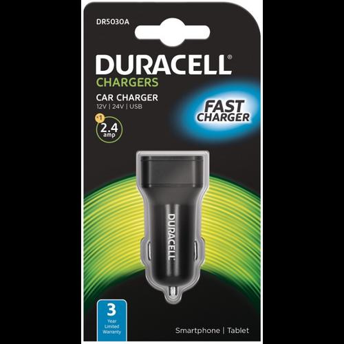 Duracell Autopunjač – Uni 1xUSB – 2.4A - Black slika 1