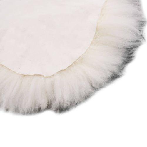 Tepih od ovčje kože 60 x 180 cm tamnosivi prošarani slika 4