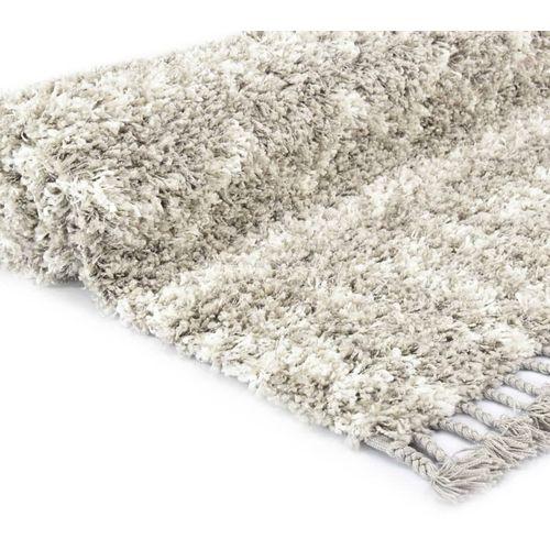 Čupavi berberski tepih PP boja pijeska i bež 160 x 230 cm slika 4