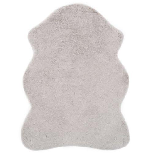 Tepih od umjetnog zečjeg krzna 65 x 95 cm sivi slika 9