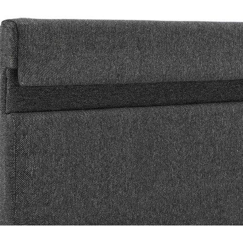 Okvir za krevet od tkanine LED tamnosivi 160 x 200 cm slika 7