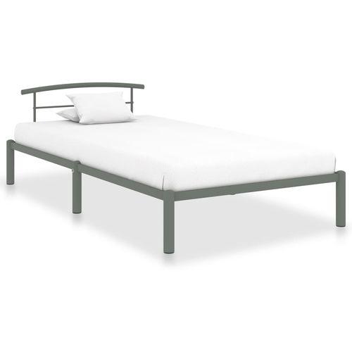 Okvir za krevet sivi metalni 90 x 200 cm slika 1