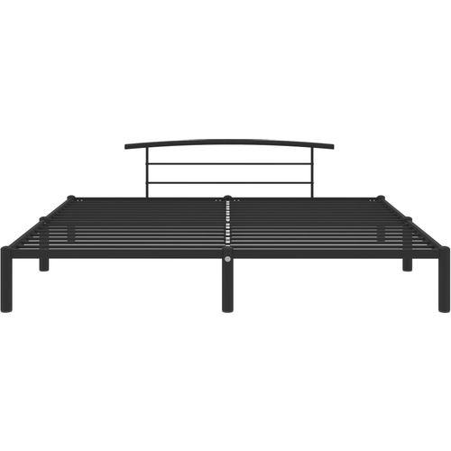 Okvir za krevet crni metalni 180 x 200 cm slika 3