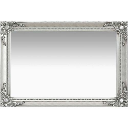 Zidno ogledalo u baroknom stilu 60 x 40 cm srebrno slika 1