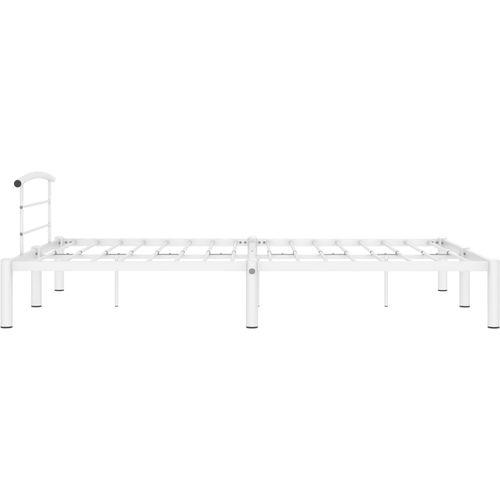 Okvir za krevet bijeli metalni 120 x 200 cm slika 4