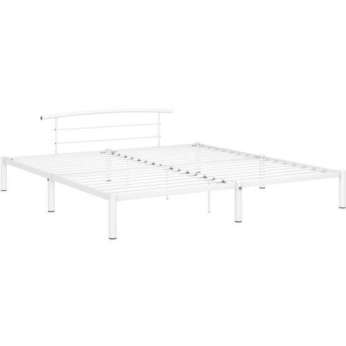 Okvir za krevet bijeli metalni 180 x 200 cm slika 2