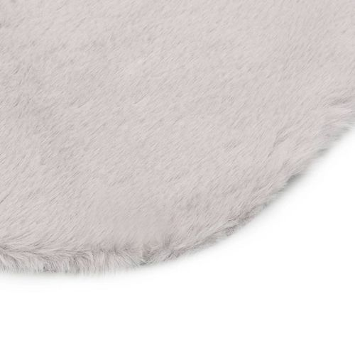 Tepih od umjetnog zečjeg krzna 65 x 95 cm sivi slika 15