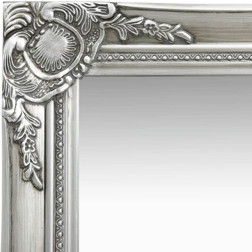 Zidno ogledalo u baroknom stilu 60 x 40 cm srebrno slika 4
