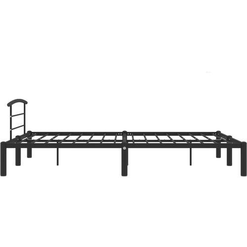 Okvir za krevet crni metalni 160 x 200 cm slika 4