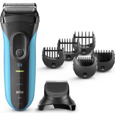 Električni brijaći aparat 3-u-1 Braun Series 3 Shave&Style 3010BT Wet& Dry s preciznim trimerom i 5 češljića      Punjivi električni brijaći aparat s mrežicom Braun Series 3 Shave&Style idealan je 3-u-1 uređaj za njegu muškaraca. S njim...
