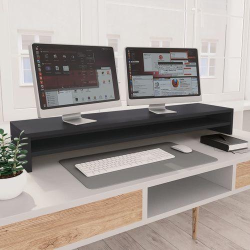 Stalak za monitor sivi 100 x 24 x 13 cm od iverice slika 7