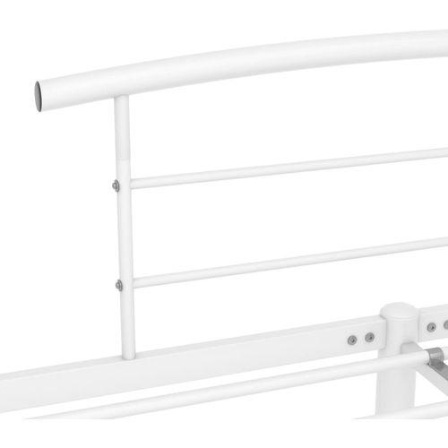 Okvir za krevet bijeli metalni 200 x 200 cm slika 5