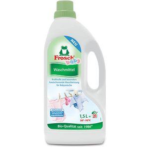 Frosch tekući deterdžent za rublje za bebe    Frosch Baby tekući deterdžent za rublje Savršena čistoća za njegu bebine i dječje odjeće Hipoalergijska formula za osjetljiv ukožu – naročito za naše najmlađe. Pouzdano uklanja i najtvrdokornije mrlje –od 20C do 95C