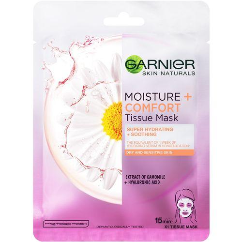 Garnier Skin Naturals Tissue Masks Moisture + Comfort Maska za lice u maramici za super hidrataciju i umirivanje kože slika 1