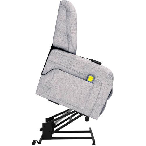 Električni masažni TV naslonjač od tkanine svjetlosivi slika 6