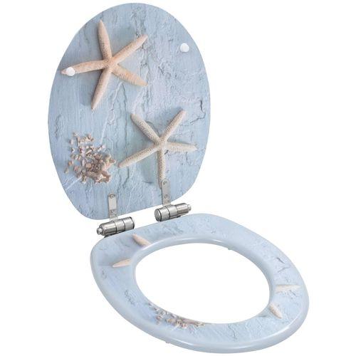 Toaletna daska s mekim zatvaranjem 2 kom MDF uzorak zvjezdača slika 2