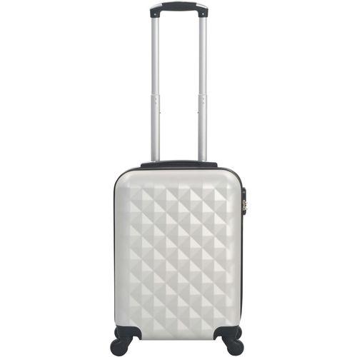 Čvrsti kovčeg s kotačima žarko srebrni ABS slika 2