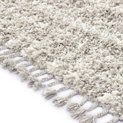 Čupavi berberski tepih PP boja pijeska i bež 160 x 230 cm slika 3