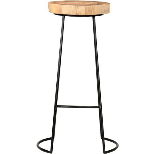 Barski stolci 2 kom od masivnog bagremovog drva slika 3