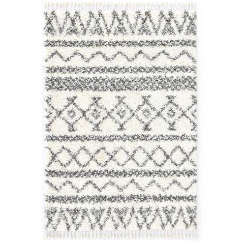 Čupavi berberski tepih PP bež i sivi 160 x 230 cm slika 1