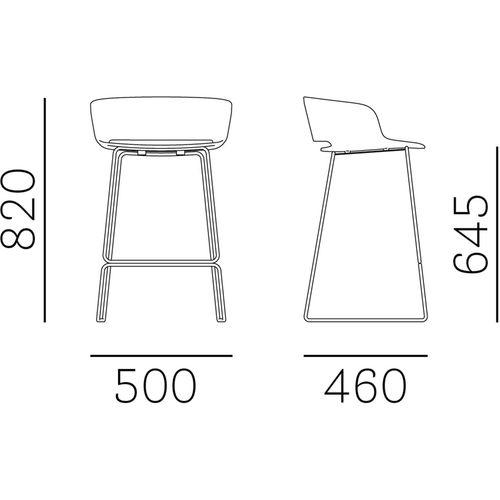 Dizajnerska barska stolica — by FIORAVANTI slika 2