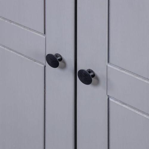 Ormar od borovine 3 vrata sivi 118x50x171,5 cm asortiman Panama slika 10