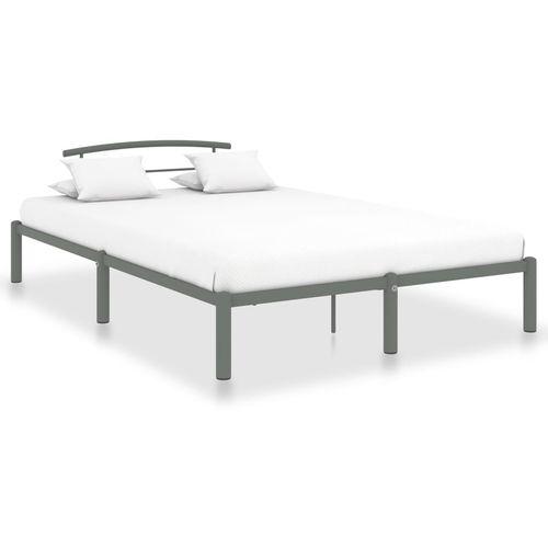 Okvir za krevet sivi metalni 140 x 200 cm slika 1