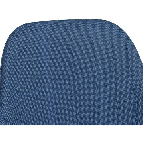 Blagovaonske stolice s naslonima za ruke 2 kom plave od tkanine slika 6