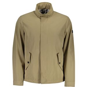 Sports Jacket long sleeves, 2 side pockets, 2 external pockets, Buttons and zip, logo