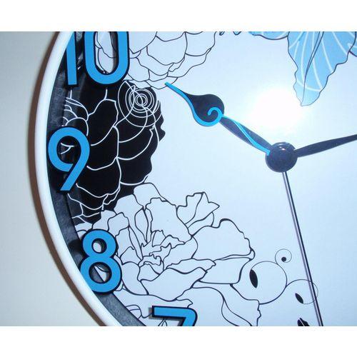 Zidni quartz sat P1107BE - plastika/staklo slika 2