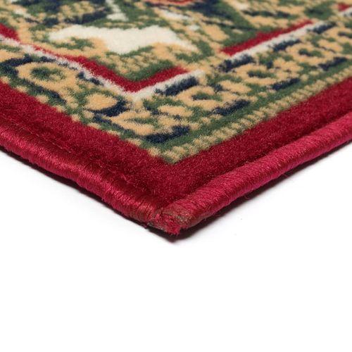 Orijentalni tepih perzijskog dizajna 180 x 280 cm crveni/bež slika 10