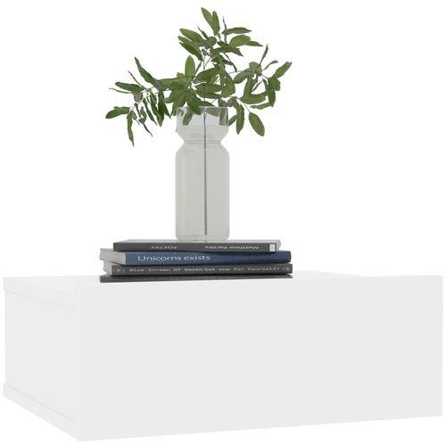 Viseći noćni ormarić visoki sjaj bijeli 40x30x15 cm od iverice slika 3