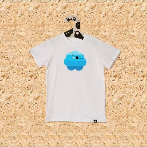 Dječja majica GUSARSKA bijela slika 1