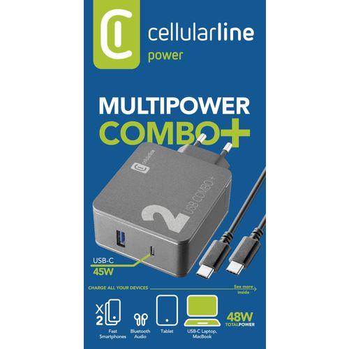 Cellularline kućni punjač Multipower 2 Combo + 48W i kabel C-C slika 3