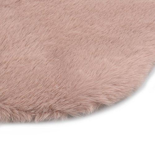 Tepih od umjetnog zečjeg krzna 65 x 95 cm blijedo ružičasti slika 9