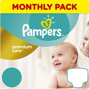Pampers Premium Care pelene mjesečno pakiranje. Mjesečna zaliha pelena u jednom pakiranju!    Veličina 2 - 240 komada pelena  Veličina 3 - 204 komada pelena  Veličina 4 - 168 komada pelena  Veličina 5 - 136 komada pelena