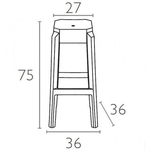 Dizajnerske barske stolice — POLY • 2 kom. slika 2