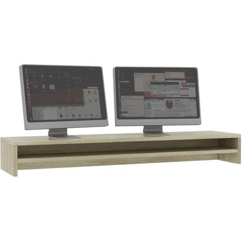 Stalak za monitor boja hrasta sonome 100 x 24 x 13 cm iverica slika 3